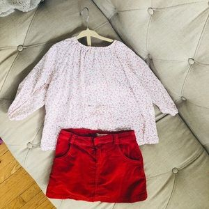 Kids outfit Top & skirt size 4